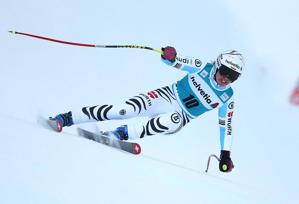 ALPINE SKIING - FIS WC St.Moritz SANKT MORITZ,SWITZERLAND,25.JAN.15 - ALPINE SKIING - FIS World Cup, Super Giant Slalom, Ladies. Image Shows Viktoria  Rebensburg (GER). Keywords: Stoeckli. PUBLICATIONxINxGERxHUNxONLY  Alpine Skiing FIS WC St Moritz Sankt Moritz Switzerland 25 Jan 15 Alpine Skiing FIS World Cup Super Giant Slalom Ladies Image Shows Viktoria Vine Castle Ger Keywords Stoeckli PUBLICATIONxINxGERxHUNxONLY