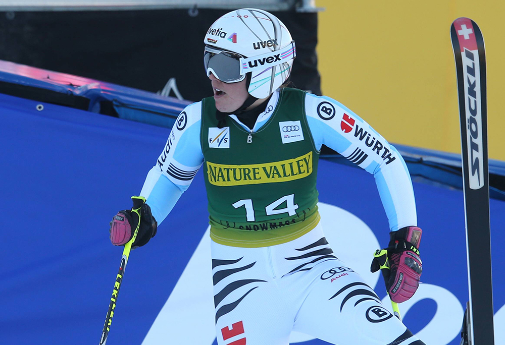 ALPINE SKIING - FIS WC Aspen ASPEN,COLORADO,USA,29.NOV.14 - ALPINE SKIING - FIS World Cup, Giant Slalom, Ladies. Image Shows Viktoria Rebensburg (GER). Keywords: Stoeckli. PUBLICATIONxINxGERxHUNxONLY  Alpine Skiing FIS WC Aspen Aspen Colorado USA 29 Nov 14 Alpine Skiing FIS World Cup Giant Slalom Ladies Image Shows Viktoria Vine Castle Ger Keywords Stoeckli