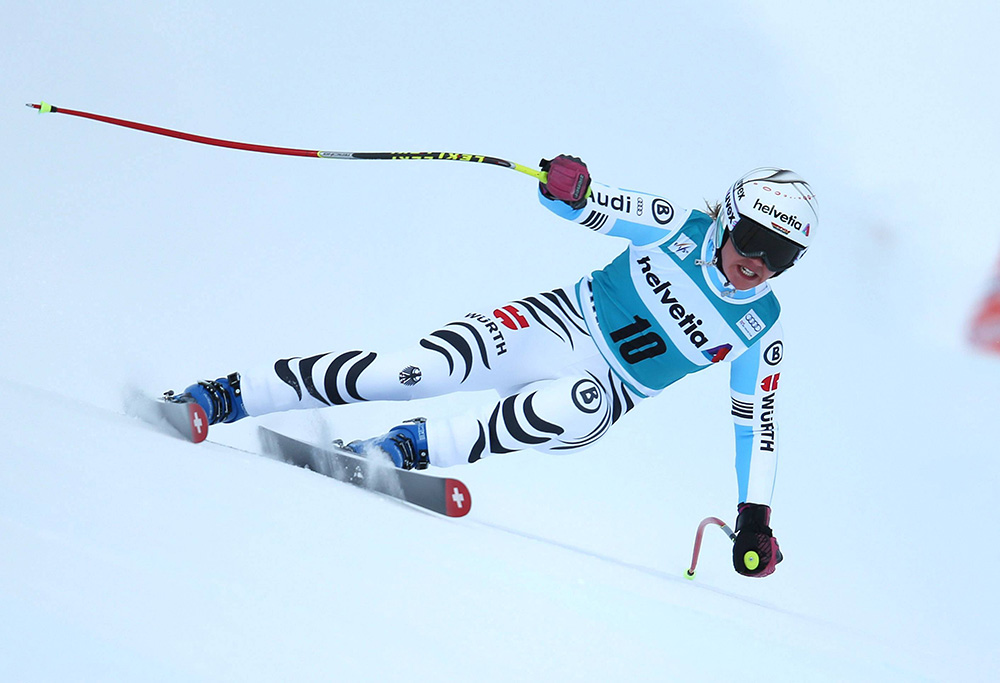 ALPINE SKIING - FIS WC St.Moritz SANKT MORITZ,SWITZERLAND,25.JAN.15 - ALPINE SKIING - FIS World Cup, Super Giant Slalom, Ladies. Image Shows Viktoria  Rebensburg (GER). Keywords: Stoeckli. PUBLICATIONxINxGERxHUNxONLY  Alpine Skiing FIS WC St Moritz Sankt Moritz Switzerland 25 Jan 15 Alpine Skiing FIS World Cup Super Giant Slalom Ladies Image Shows Viktoria Vine Castle Ger Keywords Stoeckli PUBLICATIONxINxGERxHUNxONLY