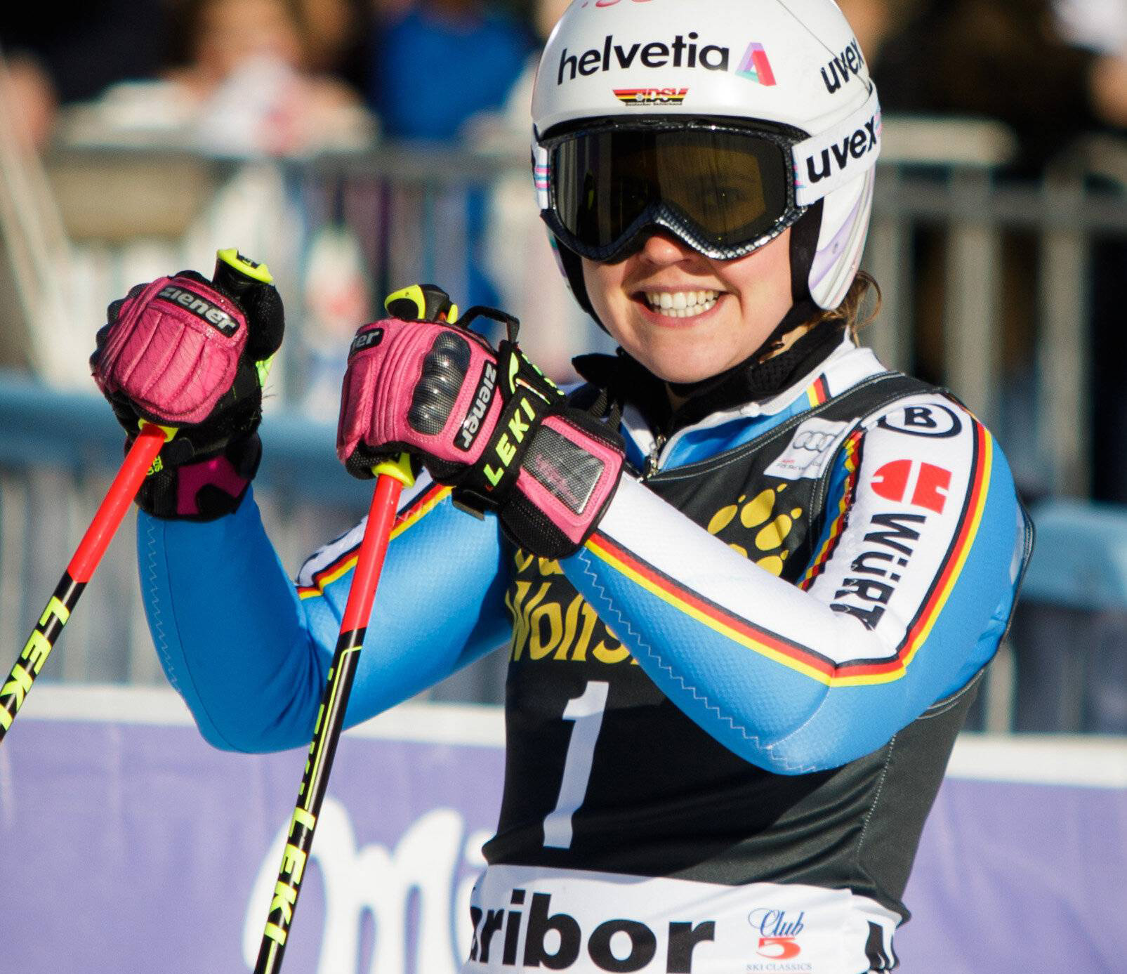 Victory In The Giant Slalom