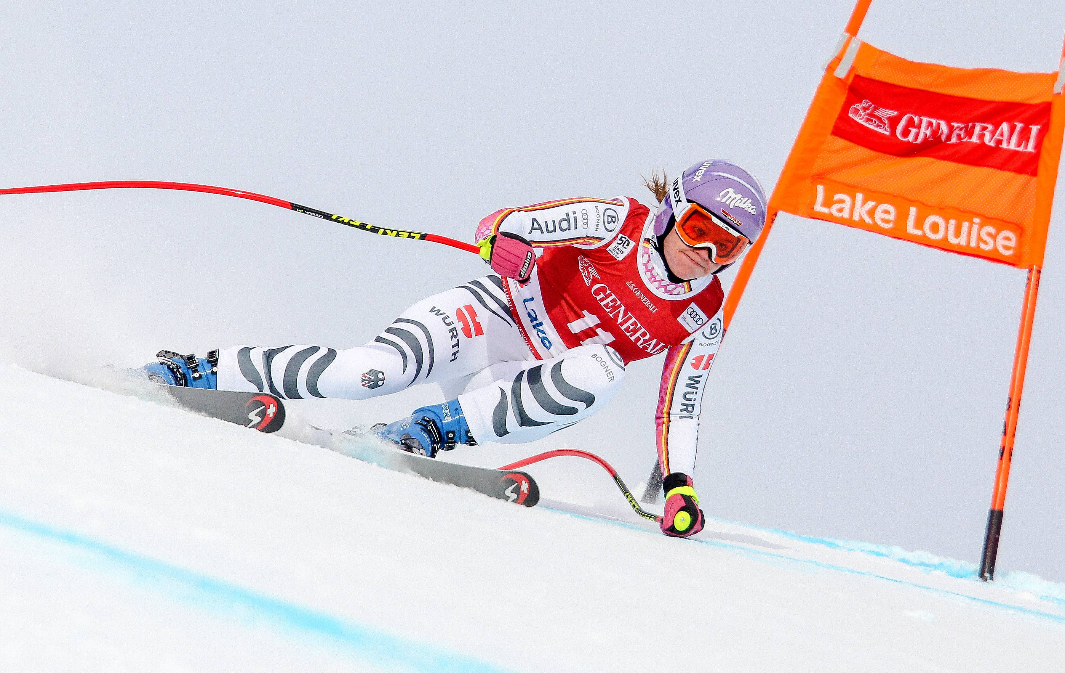ALPINE SKIING - FIS WC Lake Louise LAKE LOUISE,CANADA,03.DEC.16 - ALPINE SKIING - FIS World Cup Lake Louise, Downhill, Ladies. Image Shows Viktoria Rebensburg (GER). Keywords: Stoeckli. PUBLICATIONxINxGERxHUNxONLY GEPAxpictures/xMarioxKneisl  Alpine Skiing FIS WC Lake Louise Lake Louise Canada 03 DEC 16 Alpine Skiing FIS World Cup Lake Louise Downhill Ladies Image Shows Viktoria Vine Castle Ger Keywords Stoeckli PUBLICATIONxINxGERxHUNxONLY GEPAxpictures XMarioxKneisl